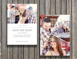 vintage save the date template psd instant download by