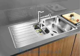 Lantos Stainless Steel Kitchen Sinks BLANCO Lantos SIF Stainless - Kitchen sink pop up waste