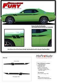 Dodge Challenger Decals - challenger fury vinyl graphics door stripes decals kit 2011 2012