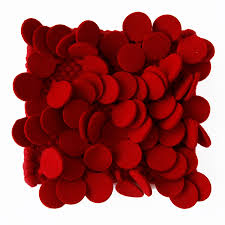 Large Red Area Rug Nanimarquina Roses Rug High Pile Felt Area Rug In Red Stardust