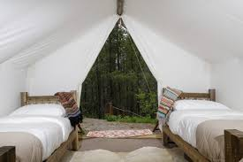 Wall Tent Platform Design by Glacier Glamping Montana Luxury Outdoor Lodging U0026 Accommodations
