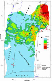 Map Of Israel Tectonic Geophysical Mapping Of Israel And The Eastern