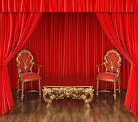 Stage With Curtains Gold Theater Stage Draped With Curtains Stock Photos Freeimages Com