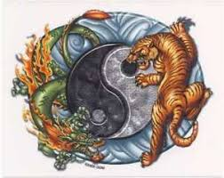 6 tiger yin yang vinyl stickers decals by odm ebay