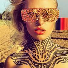 tribal full neck tattoo trend for girls real photo pictures