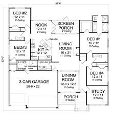 4 bedroom open floor plans 88 best 4 bedroom rambler plans images on house floor