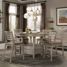 dining tables gray round dining table set rustic farmhouse table