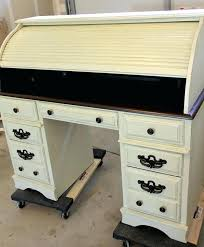 distressed roll top desk two tone roll top desk part 2 a treasure redefined white roll top desk black distressed roll top desk