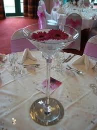 wedding centrepieces martini vases candelabras fairy light