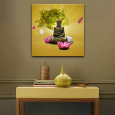 Home Decor Buddha by Compare Prices On Buddha Lotus Canvas Painting Online Shopping