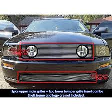 2007 mustang grill amazon com 05 09 ford mustang v6 billet grille grill bumper