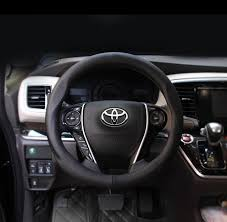 toyota corolla steering wheel cover aliexpress com buy 38cm car leather steering wheel cover for