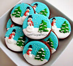 Decorated Christmas Tree Sugar Cookies by Christmas Royal Icing Transfers The Bearfoot Baker