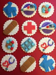 12 medical cupcake toppers healthcare fondant nurse doctor