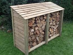 wood store wooden log stores log storage from titan pro