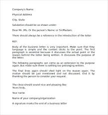 Business Letter Language sle format for business letter 7 free documents in pdf word
