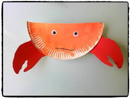 pinterest bricolage enfant crabe en assiette en carton animaux plage océan bricolage