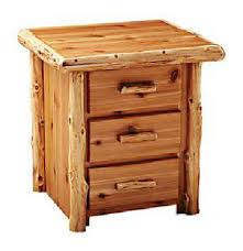 Rustic Pine Nightstand Amish Handcrafted Rustic Furniture
