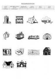 different types of houses worksheet pictures to pin on pinterest