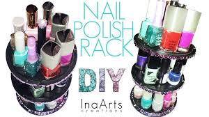 diy nail polish holder porta smalti youtube