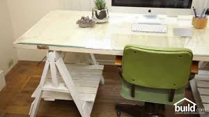 How To Build A Trestle Table How To Make A Desk Top Out Of An Old Door Home Design Tips Youtube