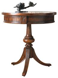 Side Accent Table Round Pedestal Accent Table Traditional Side Tables And End