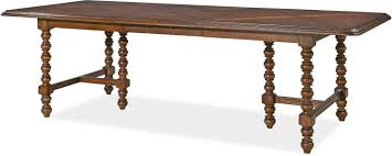 dogwood double pedestal dinner table by paula deen by universal