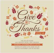 fancy thanksgiving invitation card design idea with decorative
