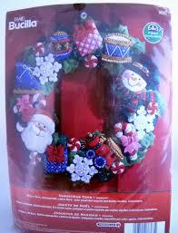 bucilla felt kits plaid bucilla felt applique christmas wreath kit christmas toys