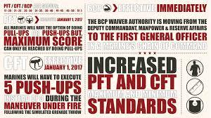 new prt standards stronger faster and fitter cmc overhauls usmc fitness program