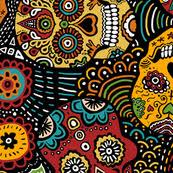 Sugar Skulls For Sale Skull Fabric Wallpaper U0026 Gift Wrap Spoonflower
