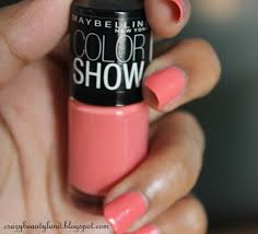 maybelline color show nail polish in coral craze 211 review