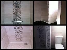 Salle De Bain Avec Mosaique by Pose Faience 25 X 75 Espace Et 20 X 50 Avec Listel Salle De