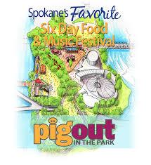 Spokane Washington Map 2016 Pig Out In The Park Spokane Wa Fairs And Festivals