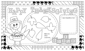 printable placemat to color for thanksgiving happy thanksgiving