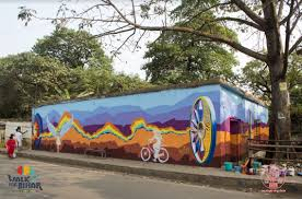 Wall Mural Shining Through The Patna Is Painting Walls For Good Via Walk For Bihar