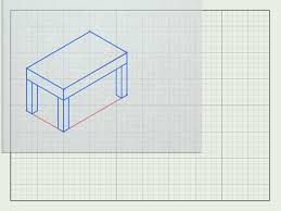 Couch Drawing Step By Step How To Draw Furniture In 3d With Pictures Wikihow