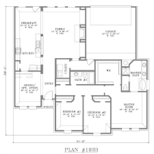 single level house plans single story house plans with garage in back