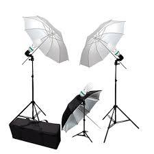 cheap umbrella lighting kit 33 inch collapsible white and black silver umbrella lighting kit