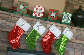 decorating santa clause and nutcracker christmas stocking holders