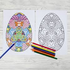 easter colouring pages intricate eggs mum madhouse