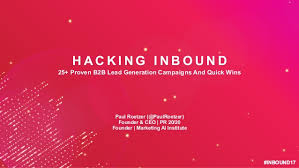 hacking ideas hacking inbound 25 proven b2b lead generation quick wins and cai