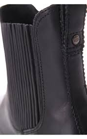 womens ugg leather ankle boots ugg australia joey leather ankle boot black