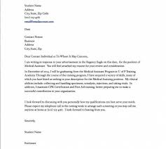 medical assistant externship resume cover letter for residency