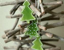 tree ornaments lace mint ceramic