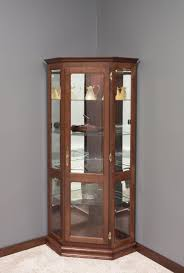 Discount Corner Curio Cabinet Solid Wood Curio Cabinet From Dutchcrafters Amish Furniture