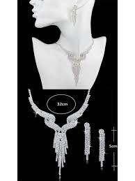 crystal bridal necklace sets images Wedding jewellery set crystal bridal jewellery sets for women jpg