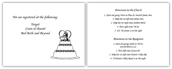 wedding invitations inserts direction inserts for invitations wedding direction card wording