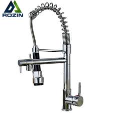 Kitchen Faucet Outlet Chrome Pull Kitchen Faucet Dual Spouts 360 Swivel