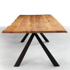 reclaimed wood table with metal legs metal kitchen table legs view in gallery round wood table metal legs